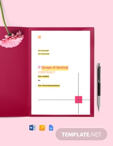 IT Consultant Contract Template