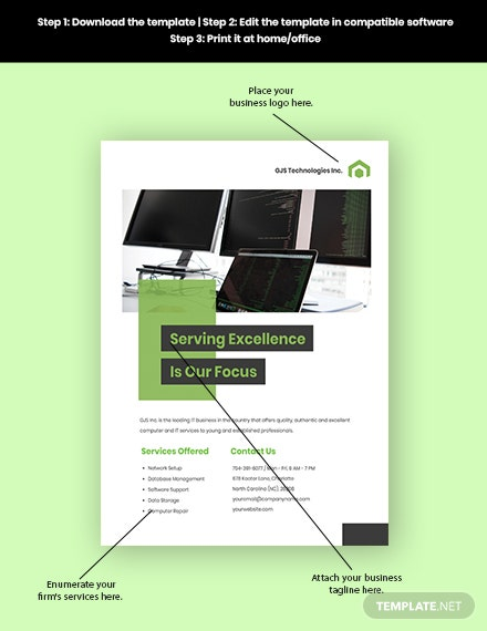 Computer  IT Services Flyer Sample