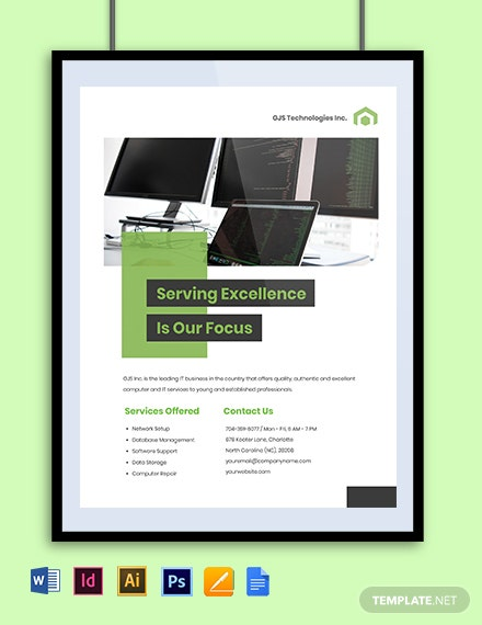 Computer  IT Services Flyer Template