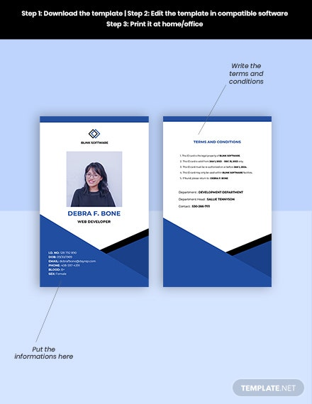 Free Sample Software Company ID Card Format