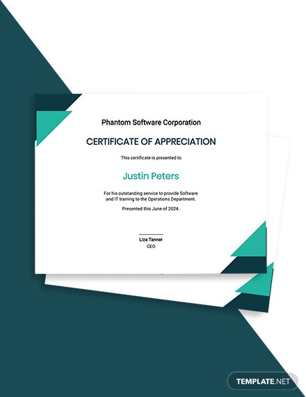 IT Appreciation Certificate Template