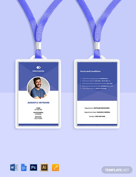 Free Sample IT Company ID Card Template