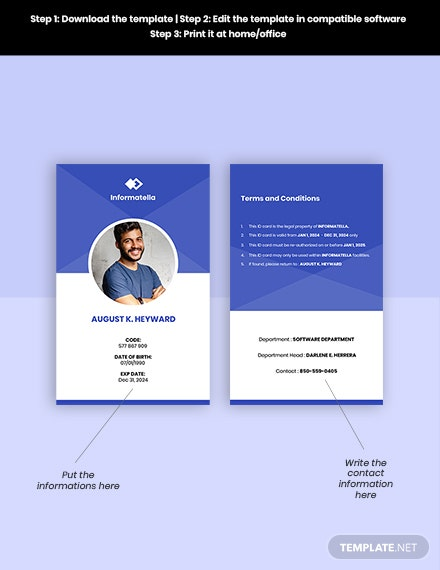 Free Sample IT Company ID Card Format