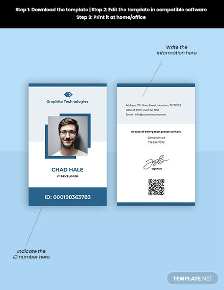 Free Simple IT ID Card Format