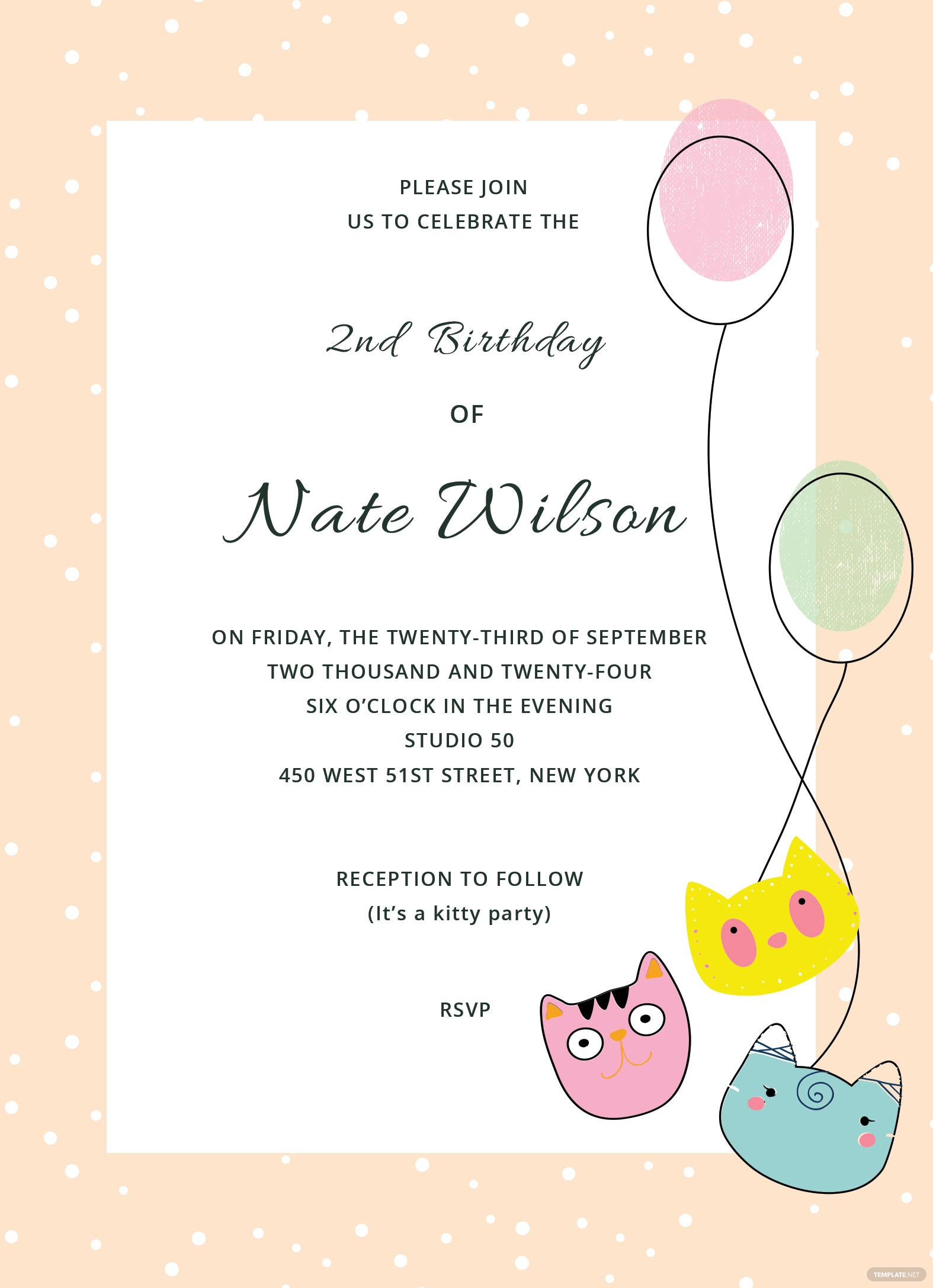 kitty Party Invitation Template in Adobe Photoshop, Illustrator ...