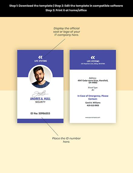 Security ID Card Editable