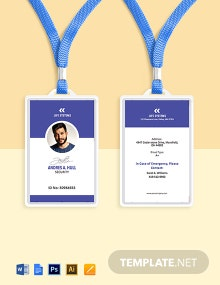 Security ID Card Template