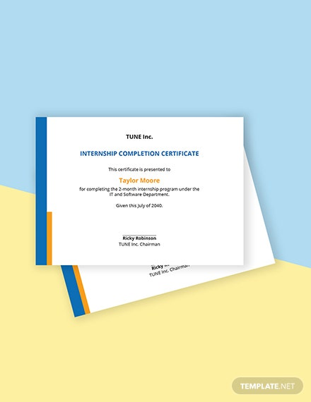 Free Software Internship Certificate Template