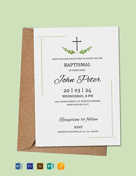 Free Sample Baptismal Invitation Template
