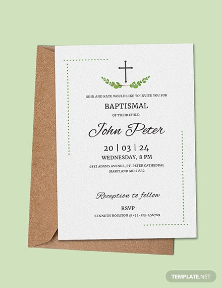 Free Sample Baptismal Invitation Template