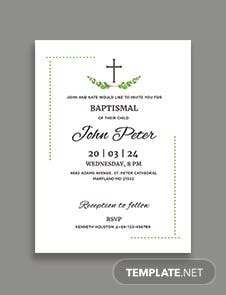 Sample Baptismal Invitation Template