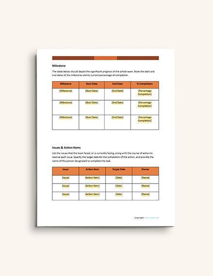 Simple IT Report format