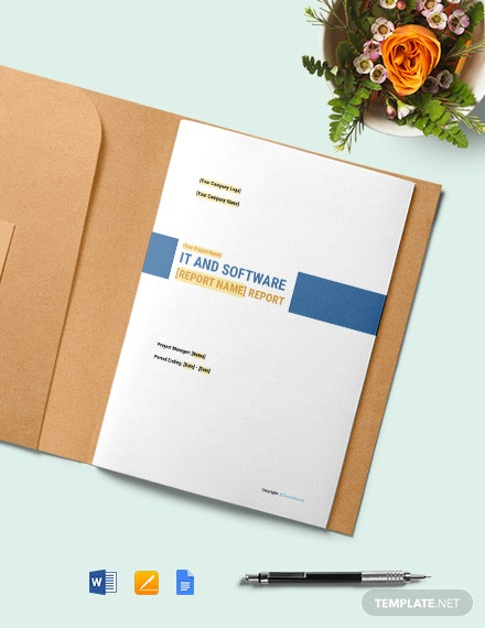 Free Basic IT and Software Report Template
