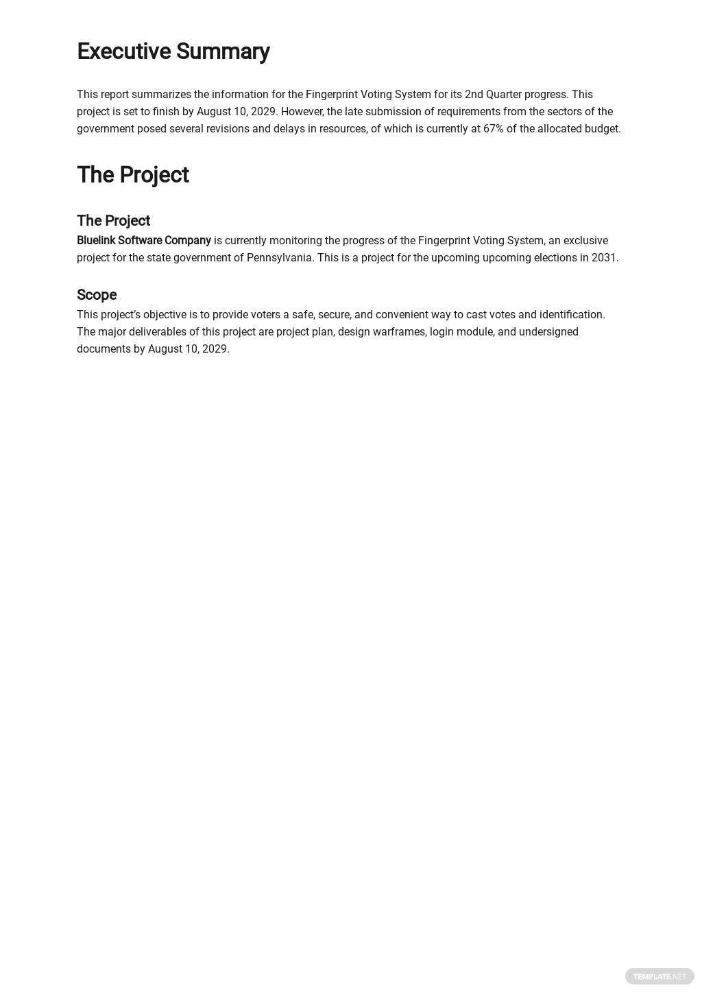 Free Basic IT and Software Report Template 1.jpe