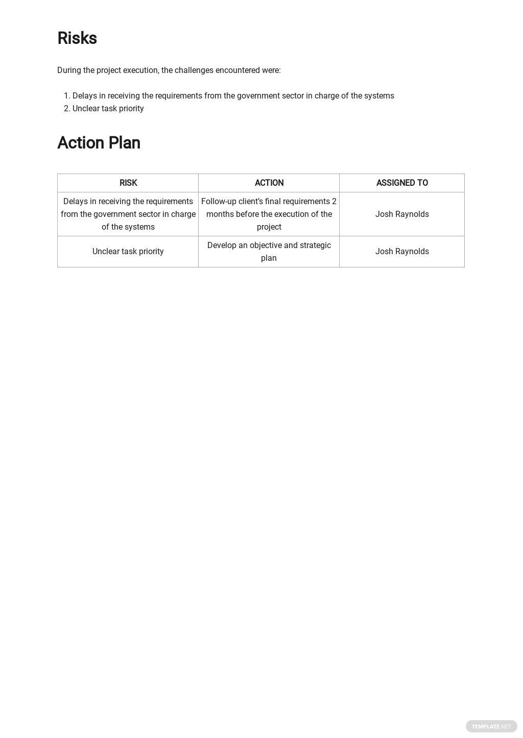 Free Basic IT and Software Report Template 3.jpe