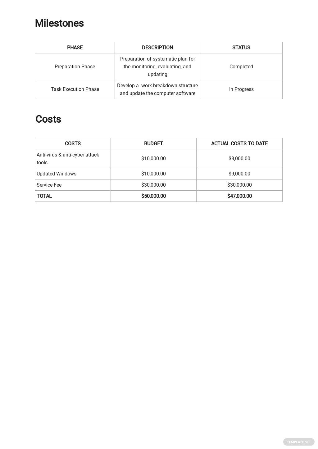 Free Sample IT and Software Report Template 2.jpe