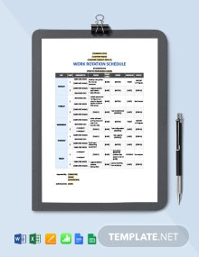 IT Work Rotation Schedule Template