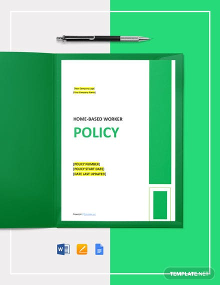 Free Home-Based Worker Policy Template