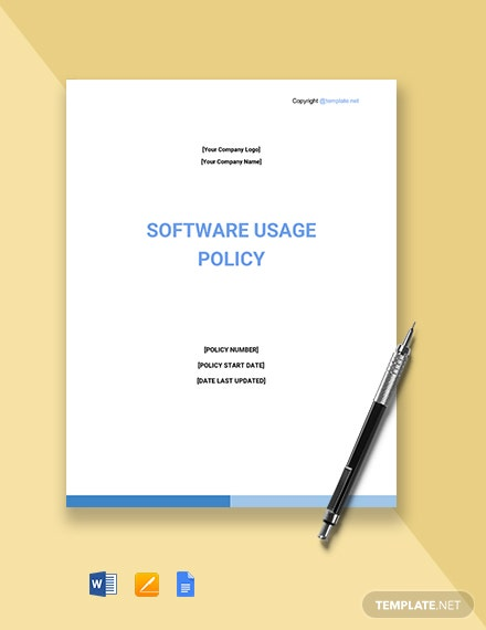 Software Usage Policy Template