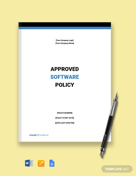 Free Approved Software Policy Template