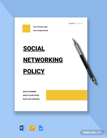 Free Social Networking Policy Template