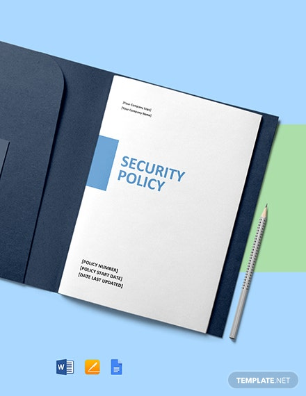 Free Security Policy Template