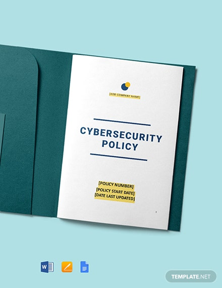 Company Cyber Security Policy Template