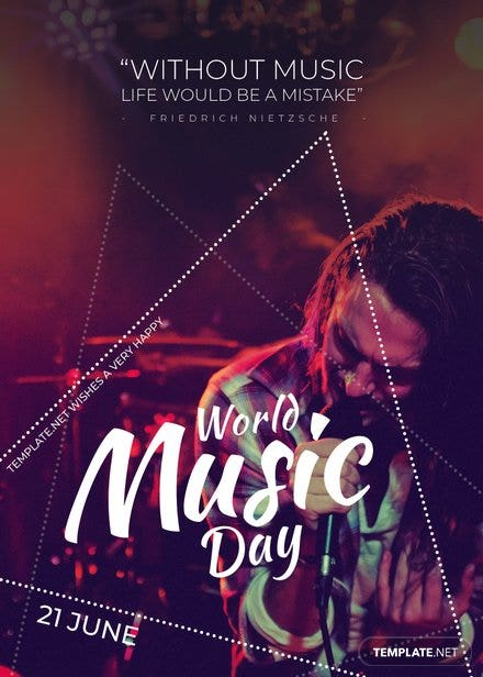 World Music Day Invitation Template