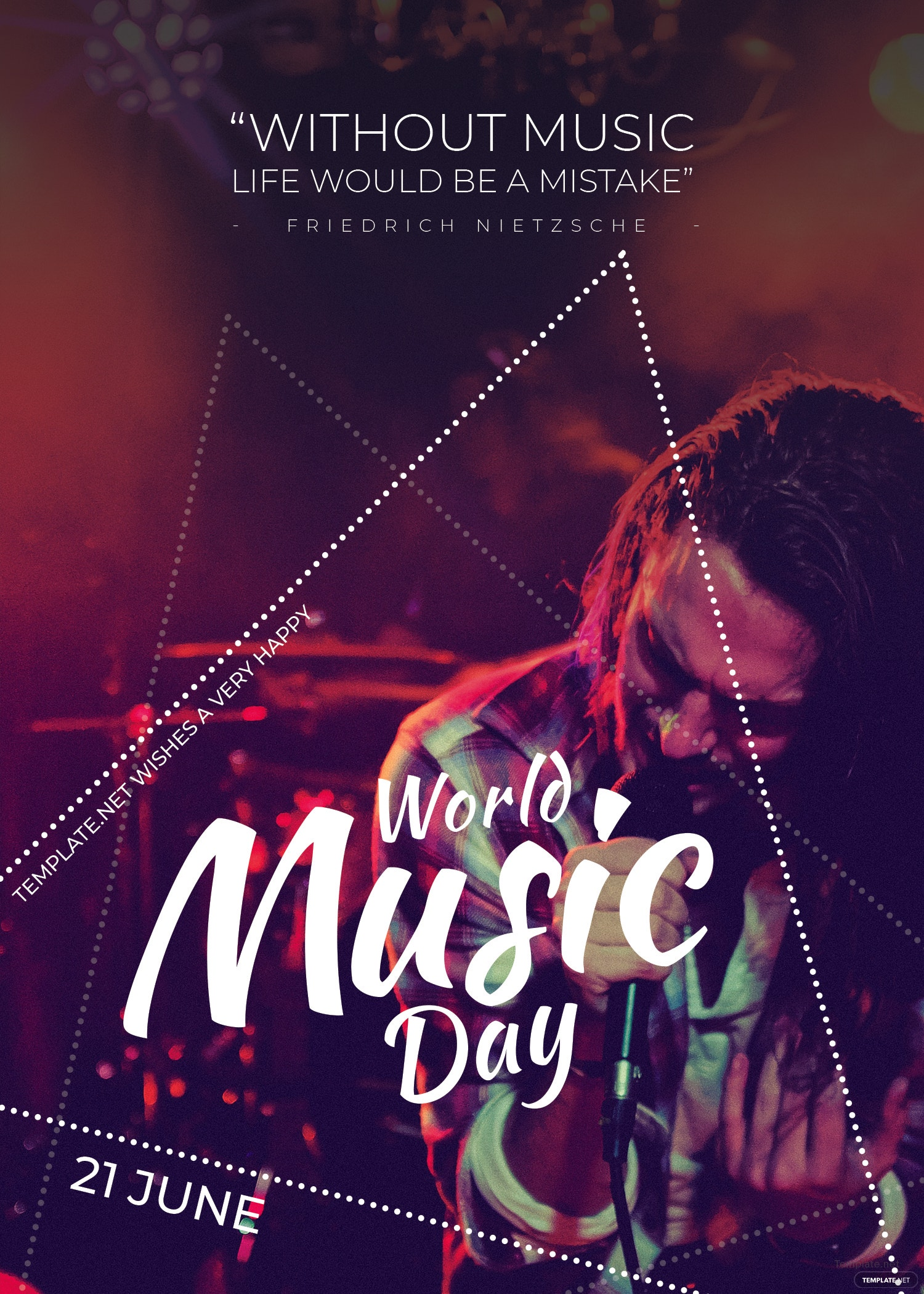 World Music Day Invitation Template