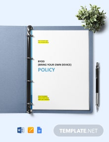 BYOD (Bring your own device) Policy Template