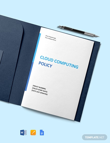 Cloud Computing Policy Template Format