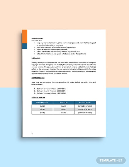 IT Software Asset Management Policy Template Download