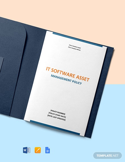 IT Software Asset Management Policy Template Format