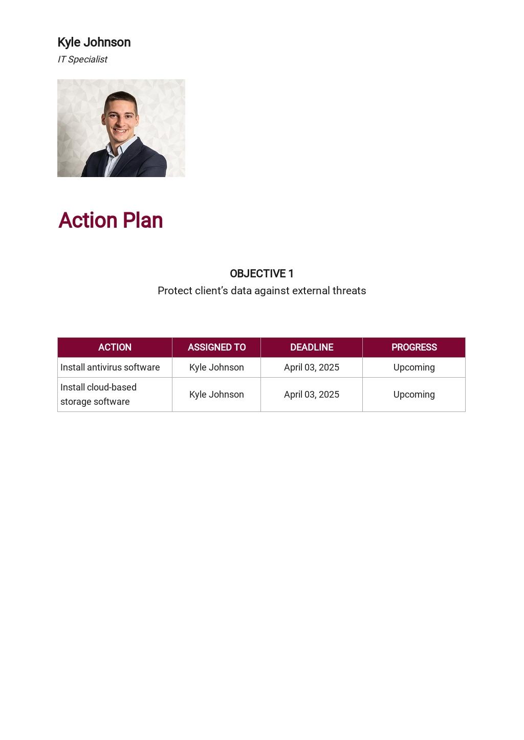 Free Sample IT Service Plan Template 3.jpe