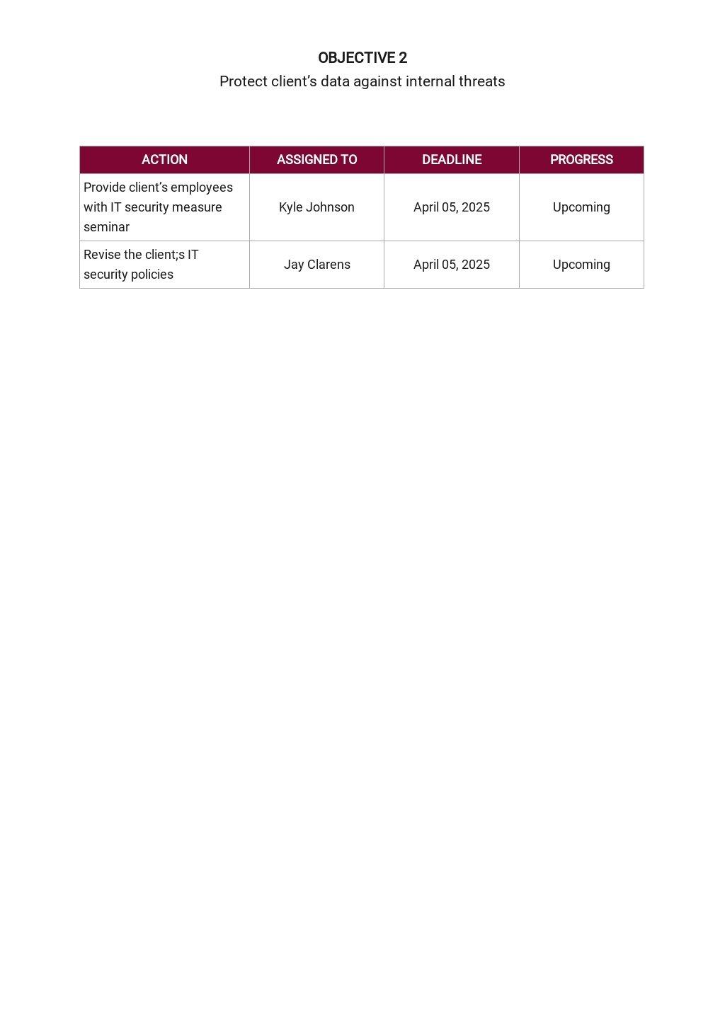 Free Sample IT Service Plan Template 4.jpe