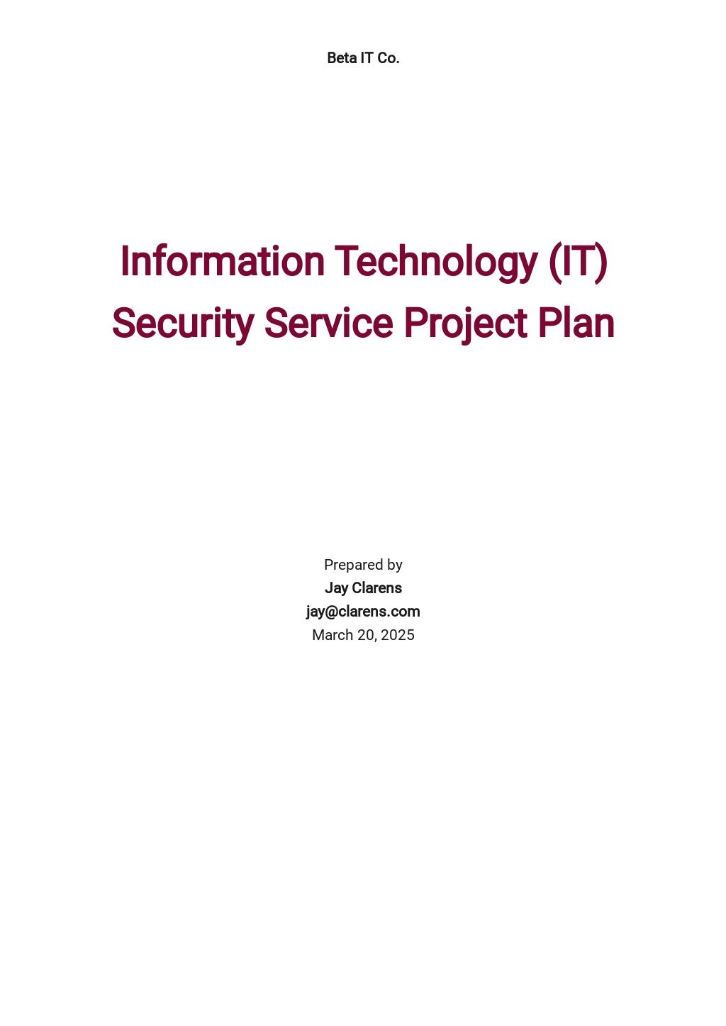 Free Sample IT Service Plan Template.jpe