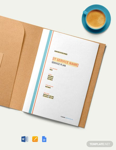 Free Sample IT Service Plan Template