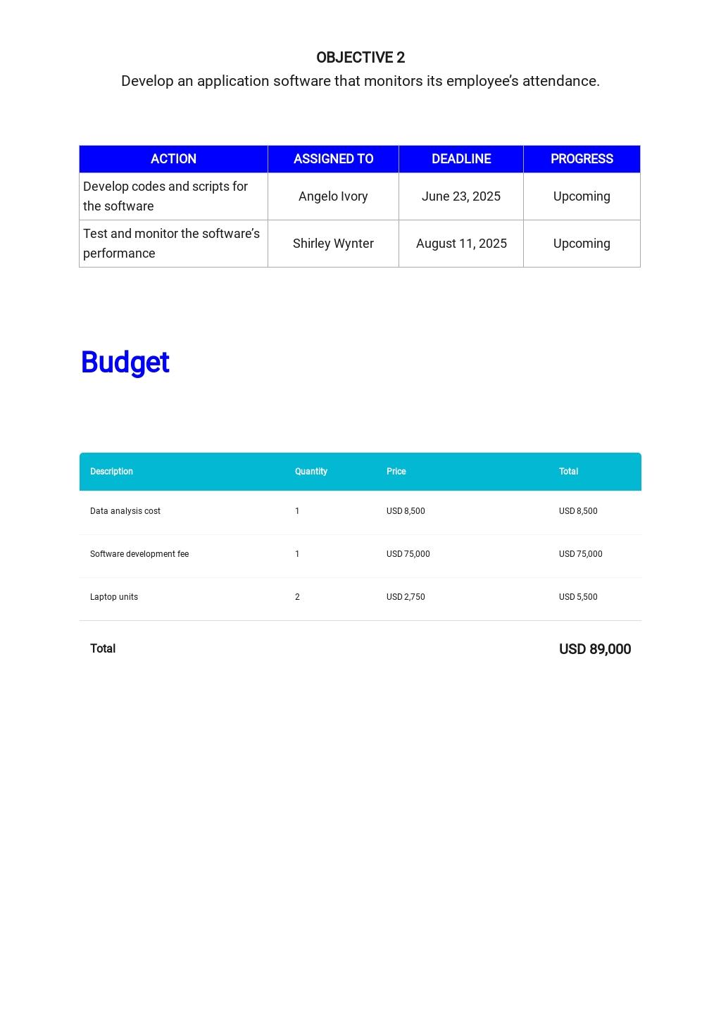 Free Simple IT & Software Plan Template 4.jpe