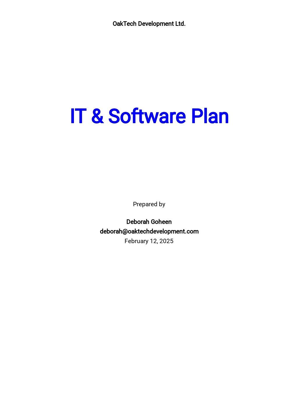 Free Simple IT & Software Plan Template.jpe