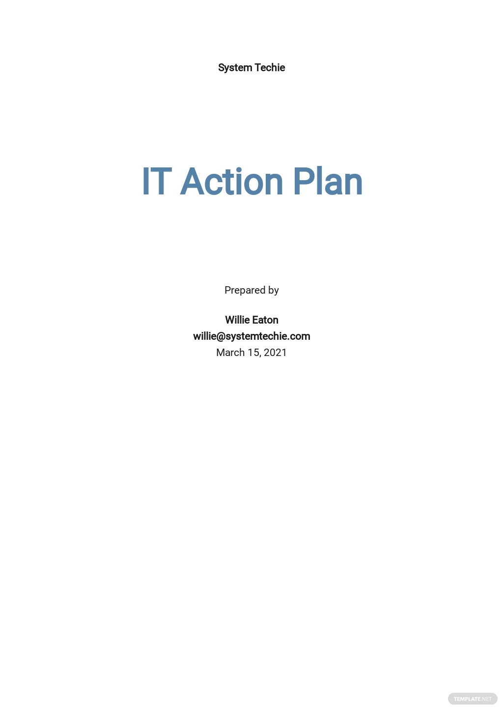 IT Action Plan Template