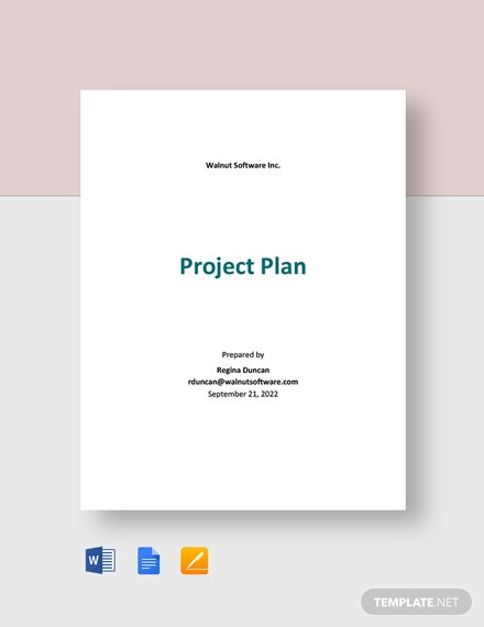 Software Project Plan Template