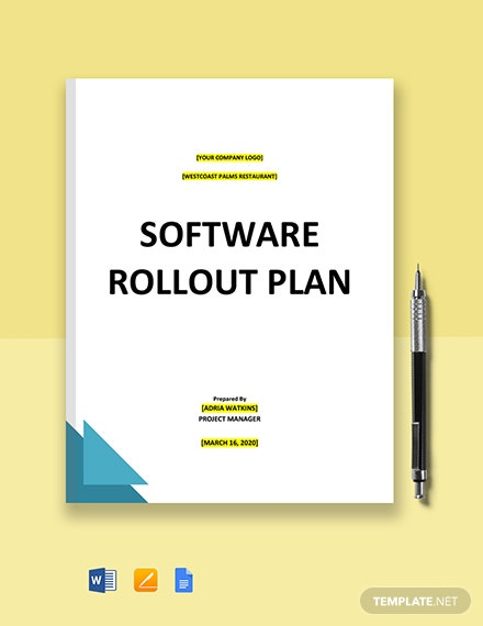 Software Rollout Plan Template
