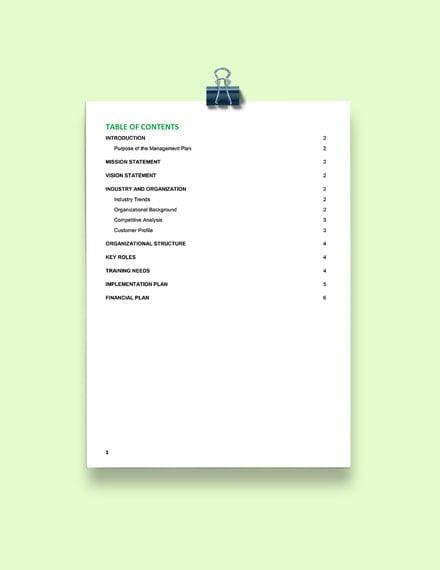 Risk Management Plan Form Format