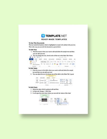 Risk Management Plan Form Instruction