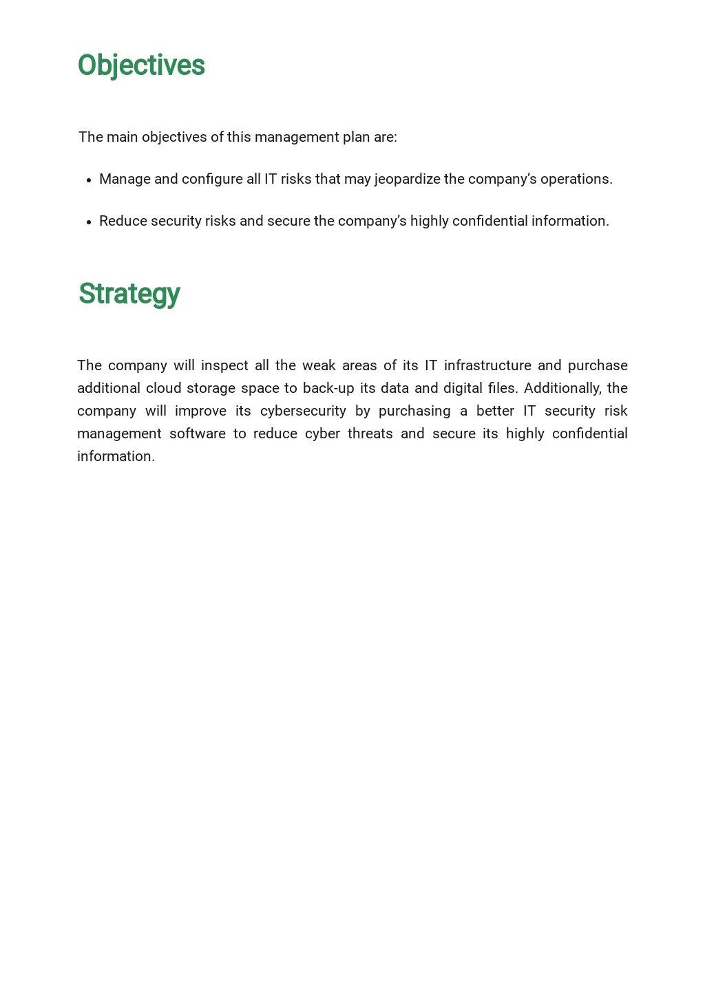 Risk Management Plan Form Template  - Google Docs, Word, Apple Pages