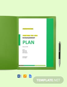 Risk Management Plan Form Template