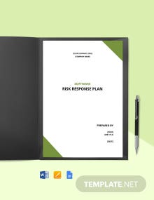 Risk Response Plan Template