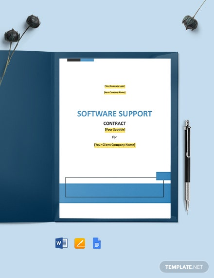 Software Support Contract Template