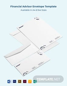 Financial Advisor Envelope Template