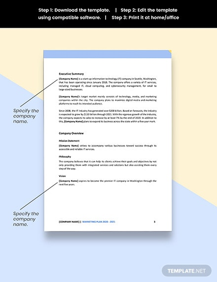 IT Business Marketing Plan Editable